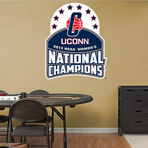 UConn 2013 NCAA® Women's Division 1 National Champion Logo Fathead Wall Decal